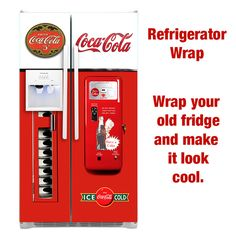Coca cola Vending Machine Side by Side refrigerator wrap