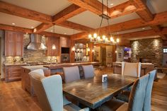 Private Kelowna Residence - rustic - dining room - other metro - Norelco Cabinets Ltd