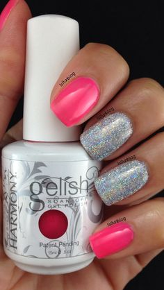 Loose Holographic Glitter and Gelish Pacific Sunset