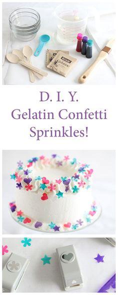 DIY Gelatin Confetti Sprinkles | Sprinkle Bakes