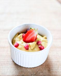 Mango Sky!!!  -mango, banana, cashew butter, coconut oil, ginger, lime  -blend, freeze, blend again, serve...  Truly sublime!