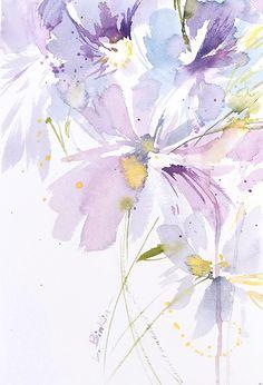 Lesia Binkin watercolor flowers