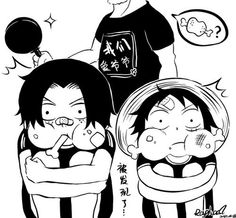 Image via We Heart It https://weheartit.com/entry/175363568/via/13076548 #onepiece #monkeyd.luffy #portgasd.ace #monkeyd.garp #brotherd.