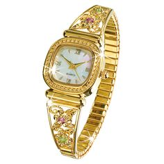 Floral Stretch Watch - The Danbury Mint