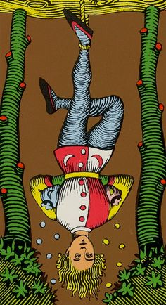 XII. The Hanged Man: Oswald Wirth Tarot