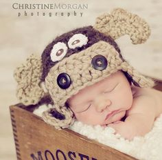 Baby Moose Hat  Crochet Baby Boy Hat  Photography by GiggledPink, $38.00