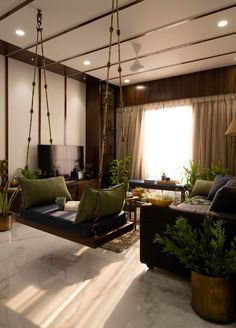 Jan 2020 - A cozy reclusive sanctuary Apartment Interior built for a family of four, this 1800 sqft home is structurally bold & beautifully simple. Apartment Interior with Soft hues and dainty details help create snug heaven. Home Room Design, Home Interior Design, Living Room Designs, Interior Design For Apartments, Interior Home Decoration, India Home Decor, Ethnic Home Decor, Indian Room Decor, Home Decor Furniture