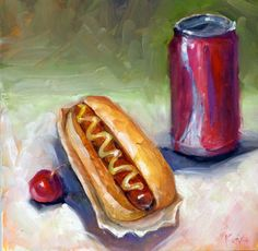 """An American classic, """"Coke and a Hot Dog"""". BUTTTT my perfect american classic would be """"Pepsi and a Cheeseburger"""" :)"""