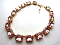 Pink Statement Necklace Anna Wintour Necklace. от damesalamode
