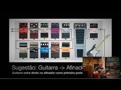 Pedais Pedaleira de Guitarra - Cadeia de Sinal   Ordem dos pedais