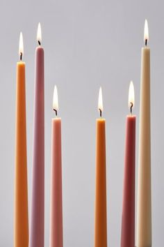 Multicolor Taper Candle - Set Of 6 | Urban Outfitters Hanging Picture Frames, Hanging Pictures, Candle Set, Candle Holders, Wood Room Divider, Apartment Essentials, Vinyl Storage, Stainless Steel Straws, Romantic Moments