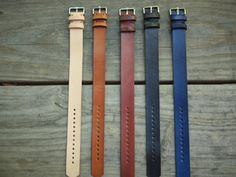 Leather Watch Band For Timex Weekender and J.Crew Watches With Buckle, 12mm silver or rose, black band