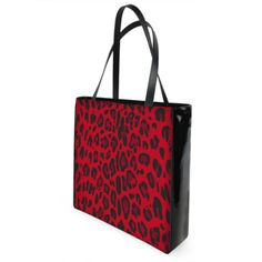 red black animal print shopper bag Shopper Bag, Tote Bag, Black Animals, My Fb, Purse Wallet, Red Black, Fashion Bags, Louis Vuitton Damier, Purses And Bags