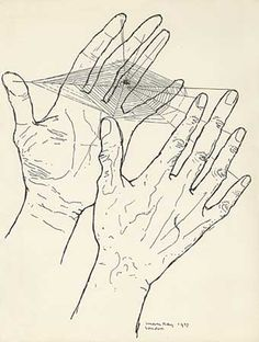 """Man Ray. L'attente """"Les Mains Libres"""" 1937 (we weave our own webs which is probably true)"""