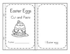 ***FREE***  Easter eggs cut and paste booklet - create sets of colorful Easter eggs 1-10.