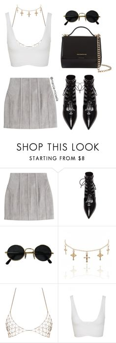 """""""• EXTRA •"""" by marcia-micaela ❤ liked on Polyvore featuring Balmain, Yves Saint Laurent, Cushnie Et Ochs, Givenchy and modern"""