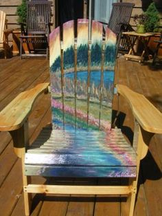 """""""I found this Adirondack chair perfect for my needs because it was easy to assemble, lightweight and had a flat back so I could paint on it. I am an artist who was looking for a chair that I could stain as an art project. I have found flat back Adirondack chairs only at Northern Tool. The price was great for the quality. I was looking for cedar and something that I could put together and take apart to ship easily. This chair is comfortable also."""" -lilakall, Canada"""