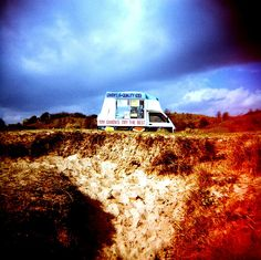 Ice Cream Van.  Cross-Processed film. © Chris Trew / Plastic Cameras 2012