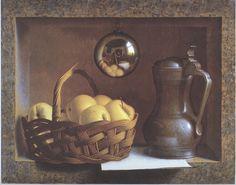 Henri Bol, Still life with pewter jug, 1994, realism - trompe-l'oeil - art