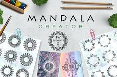 Mandala design set by Sofimix on @creativemarket