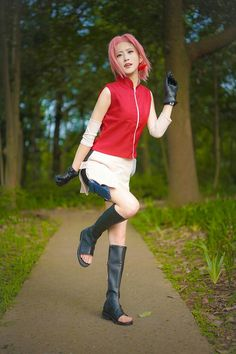 Cosplay Anime, Naruto Cosplay, Best Cosplay, Sakura Haruno Cosplay, Sakura Uchiha, Boruto Naruto Next Generations, Anime Naruto, Cool Costumes, Naruto Shippuden
