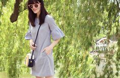 They Call Her Smith in Donna Morgan Petite Gingham Shift Dress