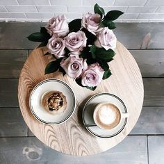 coffee and flowers