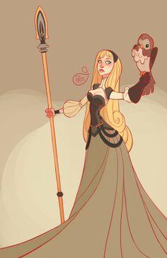 Sleeping Beauty - Aurora by MeoMai.deviantart.com on @DeviantArt - Part of a series showing Disney girls as warriors