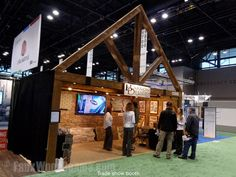 A truss would normally be impossible for a trade show booth but thanks to our Woodland faux beams, it's the perfect way to create a distinctive appearance.