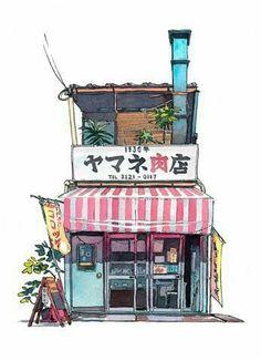 Draw maison japonaise
