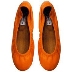 Lanvin Classic Calf Ballet in Orange