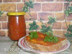 Pikantná sterilizovaná nátierka Russian Recipes, Salsa, Jar, Homemade, Food, Polish, Vitreous Enamel, Home Made, Essen