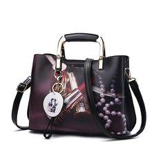 ALLHM Platinum Bag Leather Handbag Ladies Shoulder Bag Large Capacity Casual Tassel Bag Multi-Pocket Capacity Color : Black, Size : OneSize