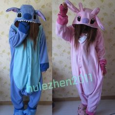 Buy New Fashion Unisex Adult Stitch Pajamas Animal Onesie pink Blue lilo Stitch jumpsuit Pyjamas Cosplay Costume Sleepsuit at Wish - Shopping Made Fun Pijamas Onesie, Onesie Pajamas, Cute Pajamas, Flannel Pajamas, Matching Pajamas, Adult Pajamas, Disney Stitch, Lilo Ve Stitch, Halloween Costumes For Teens