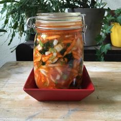 Kefir, Kimchi, Pho, Mason Jars, Korea, Favorite Recipes, Storage, Healthy Recipes, Purse Storage