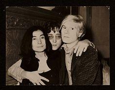 Citation: Yoko Ono, John Lennon and Andy Warhol, 1971 June 5 / David Bourdon, photographer. David Bourdon papers, Archives of American Art, ...