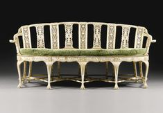 An Anglo-Indian carved and parcel-gilt ivory sofa Murshidabad, circa 1785, 243K gbp (Presented to Warren Hastings, Governor-General of British India from 1773, by Mani Begum, the widow of  Mir Jafar, nawab of Murshidabad)