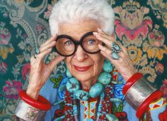 "【ELLE】世界最高齢のファッションアイコン、アイリス・アプフェルが語る""スタイル哲学"" エル・オンライン"