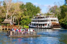 HDR shot I timed out so as to catch The Liberty Bell Riverboat and one of the rafts from Tom Sawyer Island