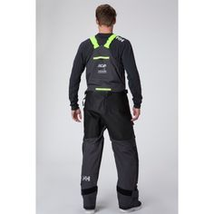 Aegir Ocean Trouser.  Stormproof, ocean-racing bib and brace overalls for men, offering long-term protection from punishing waves and run-ins with boating equipment. The lightweight and durable trousers have built-in seat and knee reinforcements. The 3-ply Helly Tech® fabric is waterproof, breathable, and windproof with fully sealed seams. The bib features a double storm flap, waterproof 2-way zips, and fleece-lined hand warmer pockets. Easily adjustable bottom leg and braces.
