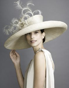So elegant! •❈• #FashionSerendipity #Fashion and #Designer #Style #hat #millinery