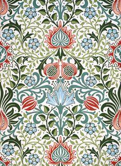 William Morris Persian Wallpaper