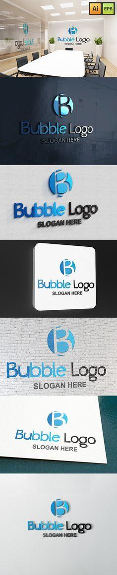 "@Behance projeme göz atın: ""Bubble Logo - B Letter Logo""…"
