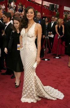 Pin for Later: 85 Unforgettable Looks From the Oscars Red Carpet Marion Cotillard at the 2008 Academy Awards Marion Cotillard rocked this scaly Jean Paul Gaultier number in 2008.
