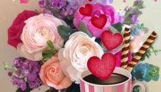 Καλημέρα: όμορφες εικόνες - eikones top Rose, Flowers, Desserts, Plants, Tailgate Desserts, Pink, Deserts, Postres, Dessert