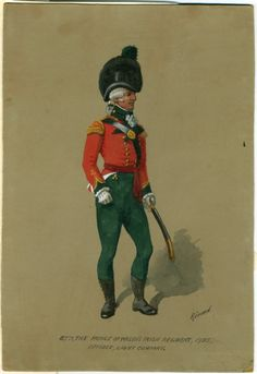 87th, the Prince of Wales's Irish Regiment, 1793 :  Officer, Light Company