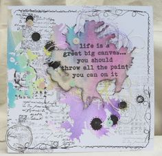 Felix the Crafty Cat: Crafty Cardmakers Challenge 'Get Inky and Messy'