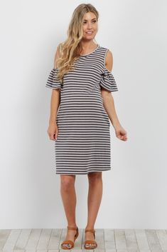 bfd3c4cbbc9d This striped maternity dress is the perfect essential for any casual  occasion this year. A