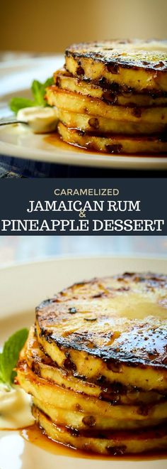 This Caramelized Jamaican Rum & Pineapple Dessert is so easy to make and bursting with tropical flavours. Great on its own, or on ice cream, or as a topping for cakes. Foods from Africa. Fancy Desserts, Köstliche Desserts, Healthy Desserts, Delicious Desserts, Dessert Recipes, Healthy Recipes, Fusion Food, Grilled Pineapple Desserts, African Dessert