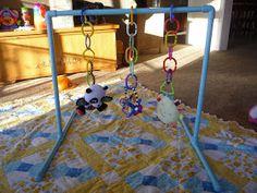 Crafty Mama: PVC Pipe Baby Gym